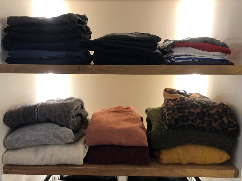 kleding opvouwen