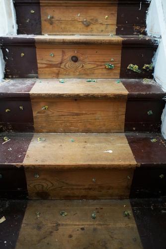 lijmresten trap verwijderen