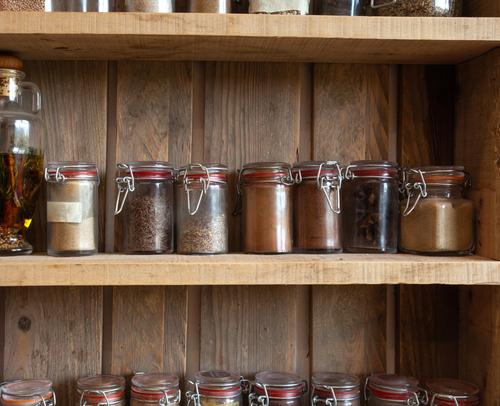 houten kruidenrek