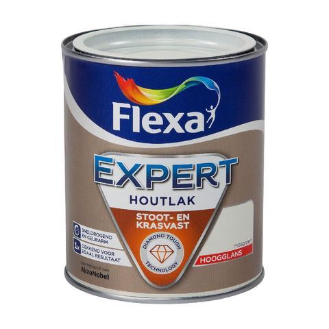 Flexa Expert Binnenlak hoogglans RAL9010 0,75 liter