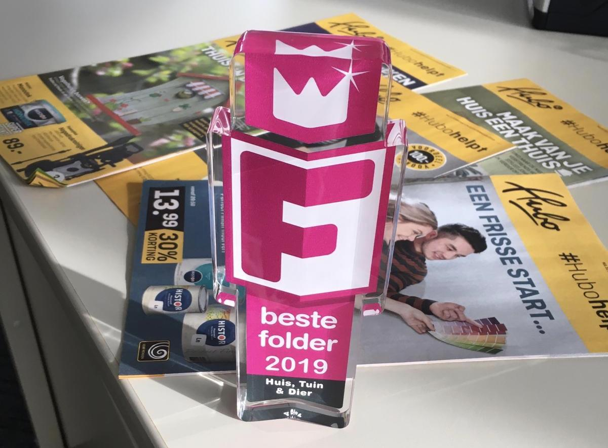 Beste Folder Award 2019 met folders