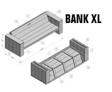 Bouwtekening Bankje Steigerhout.Steigerhout Hubo