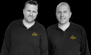 Isaac van 't Leven en Marcel Moerdijk, Bedrijfsleiders Hubo 's-Gravenpolder