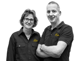 Arie en Elleke van der Ploeg, Eigenaren Hubo Dinteloord