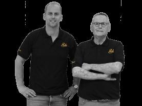 Eigenaar Hubo Eijgelsheim, Ron en Ron Eijgelsheim