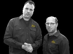 Stefan en Nick, Bedrijfsleiders Hubo Hoogwoud