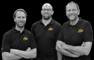 Peter, Gijs en Jan van den Berg, Eigenaars Hubo Meerkerk