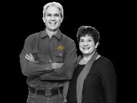 David Metz en Jacqueline Metz-Mosterman, Eigenaars Hubo Mosterman