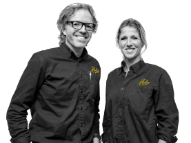 Roland en Rachel Hartkamp, Eigenaars Hubo Voorthuizen