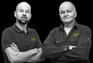 Eigenaars Hubo Wemeldinge, Wim en Martin Lukasse